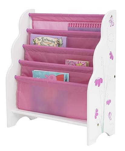 Bücherregal mit Schmetterlingen und Blumen –Kinder Bücherregale für Mädchen