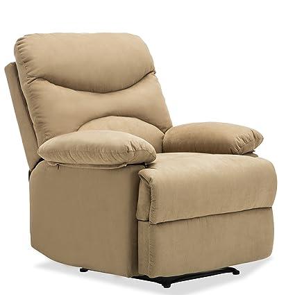 Attrayant SUNCOO Microfiber Recliner Sofa Chair Ergonomic Lounge Heated W/Control  (Brown)