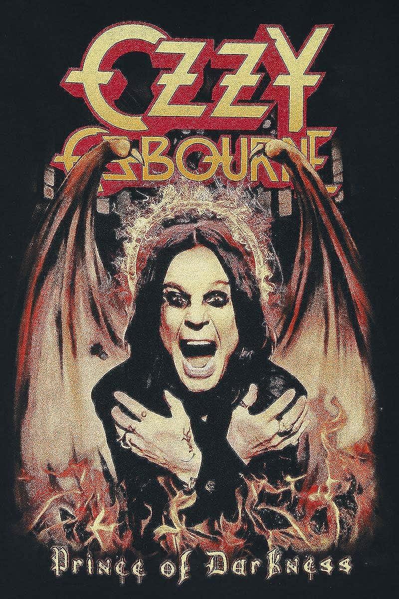 Bands Prince of Darkness M/änner T-Shirt schwarz Band-Merch Ozzy Osbourne Amplified Collection