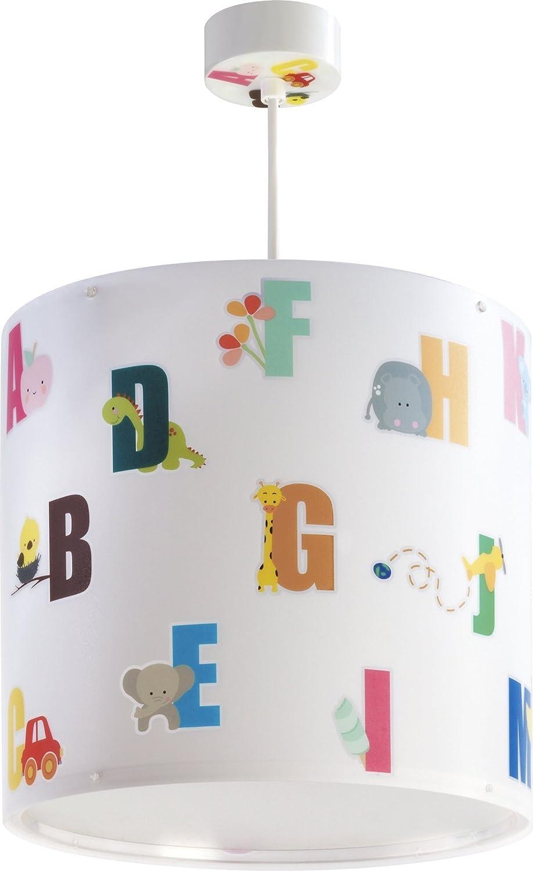 Dalber ABC H/ängelampe E27 Multicolor Plastik 26 x 26 x 25 cm