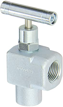 PIC Gauge NVL-CS-1//4-HS180-FXF Carbon Steel Large Body Straight Needle Valve with Hydraulic Service 10000 psi Pressure 1//4 Female NPT x 1//4 Female NPT Connection Size