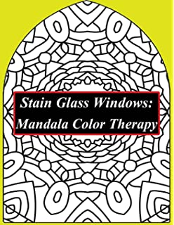 Mandalas Stained Glass Coloring Book (Dover Design Stained Glass ...