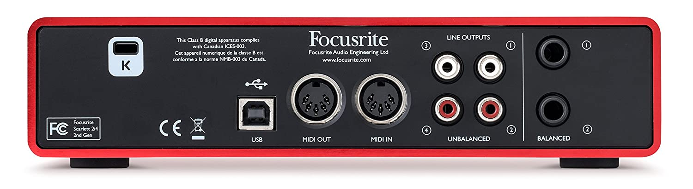 Focusrite Scarlett 2i4 2nd Gen - Interfaz de Audio
