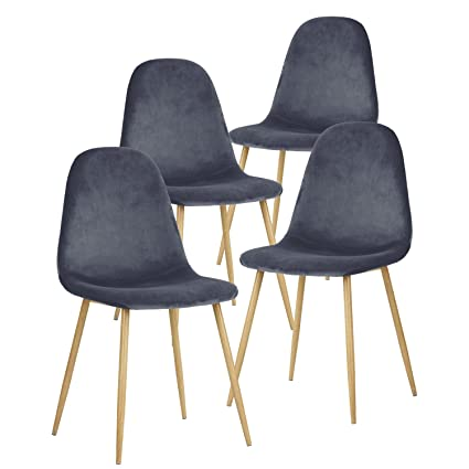 GreenForest Dining Chairs For Kitchen,Elegant Velvet Back And Cushion, Mid  Century Modern Side