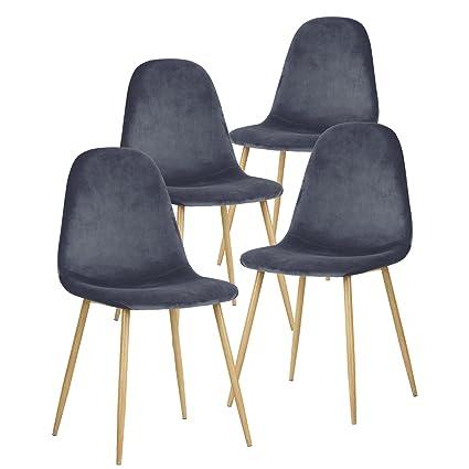 Superbe GreenForest Dining Chairs For Kitchen,Elegant Velvet Back And Cushion, Mid  Century Modern Side