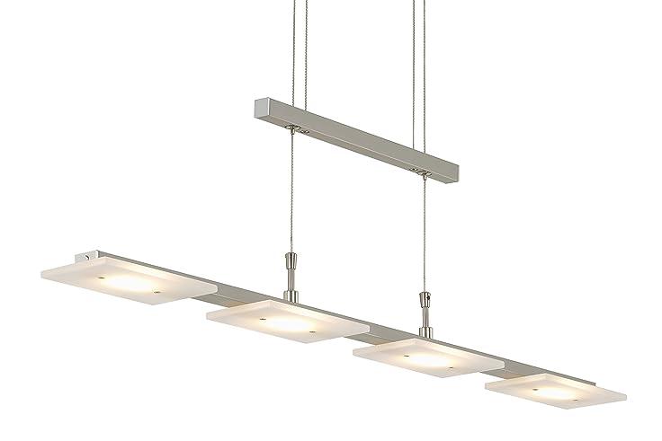 Briloner Leuchten 4310 042 LED Pendelleuchte Esszimmer, Pendellampe, Dimmbar,  Höhenverstellbar, Metall