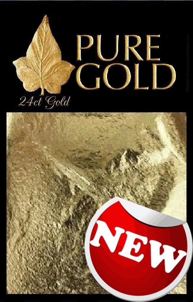 24CT Gold leaf Gilding - 10 Gold sheets, larger size 5.5cm x 5.5cm ate til ate