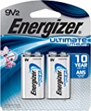Energizer Ultimate 9 Volt Batteries, Lithium 9v Battery (2 Count) L522BP-2