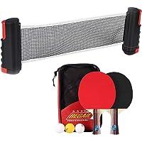 Houkiper Reemplazo retráctil de Tenis de Mesa, Ajustable en Cualquier Lugar en Casi Cualquier Mesa, Interior, Abrazaderas de Soporte de plástico para Jugar pingpong
