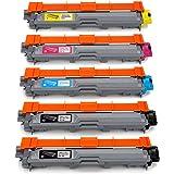 JARBO TN-241 TN-245 TN241 TN245 Toner Compatibile per Brother DCP-9015CDW DCP-9020CDW DCP-9022CDW HL-3140CW HL-3150CDW HL-3170CDW MFC-9140CDN MFC-9142CDN MFC-9330CDW MFC-9332CDW MFC-9340CDW MFC-9342CDW - 2 Nero/Ciano/Magenta/Giallo, Confezione da 5