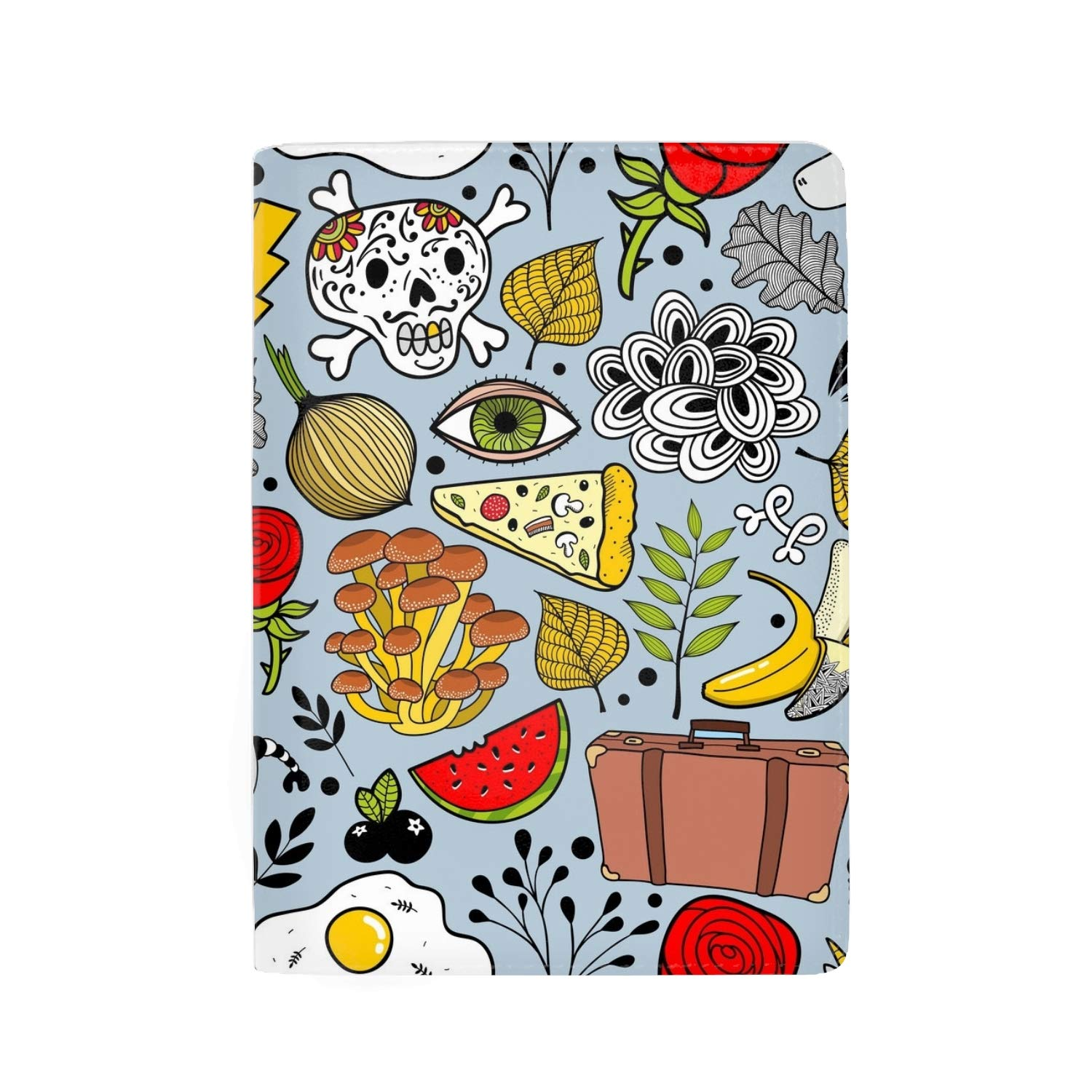 Passport Holder Travel Wallet RFID Blocking Leather Card Case Cover Cute And Shy Raccoon Wild Animal