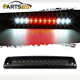 Partsam Replacement For 1994-2001 Dodge Ram 1500 Replacement for 1994-2002 Dodge Ram 2500 3500 Red/White 12LED Smoke Lens Black Housing Tail Rear High Mount 3rd Third Brake Light Cargo Lamp Waterproof