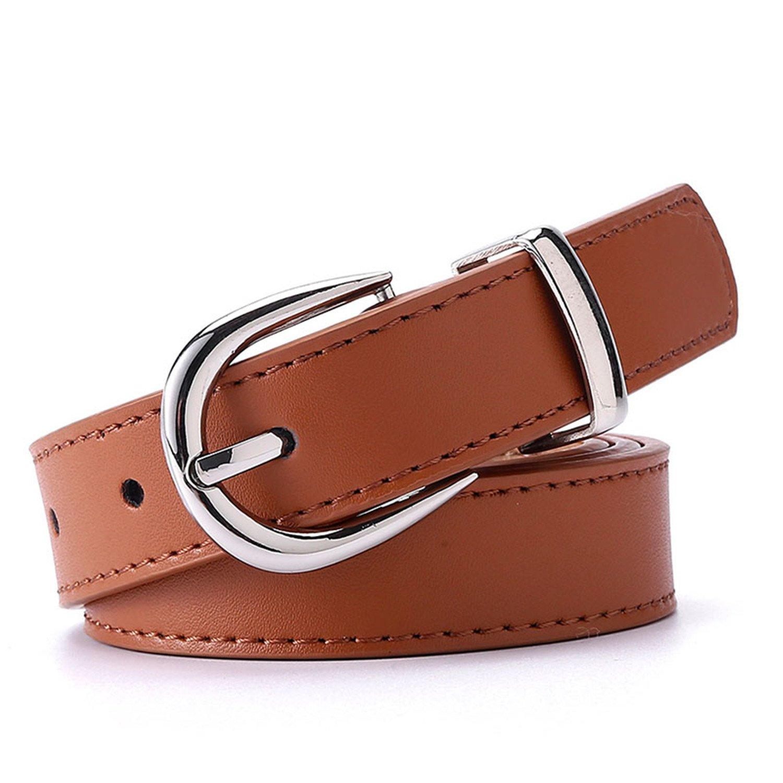Surprising Day Women Belt Cummerbunds Belts For Women Dress Apparel Lady Belt Waist Pu Leather Black Womens Belts /& Cummerbunds Sliver Buckle Brown 115cm 38to41 Inch