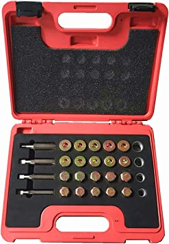 Best Q M17 x 1.5MM Oil Drain Plug Thread Repair Kit Oil Pan Screws Rethread Tool