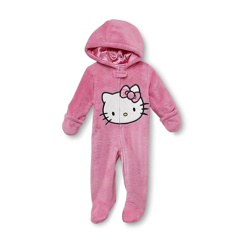 79ac54552 Amazon.com: Hello Kitty Newborn Girl's Footie Fluf Pajamas (3 - 6 Months,  Pink): Baby