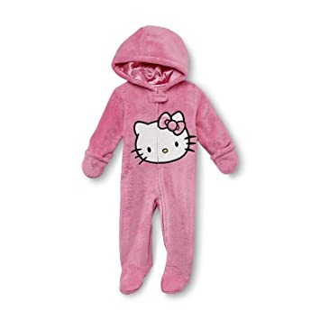 31ff86a66 Image Unavailable. Image not available for. Color: Hello Kitty Newborn  Girl's Footie Fluf Pajamas ...