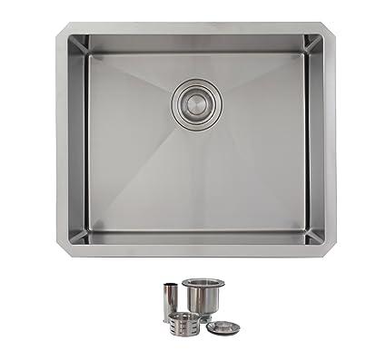 22 inch undermount single bowl laundry sink by stylish 18 gauge rh amazon com