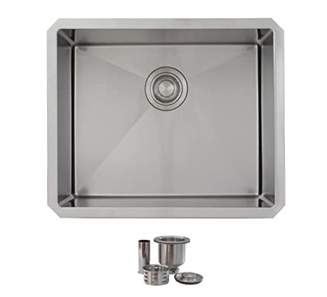 22 Inch Undermount Single Bowl Laundry Deep Sink 18 Gauge Stainless