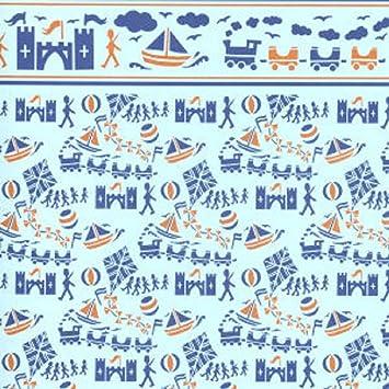Melody Jane Puppenhaus Miniatur Druck Holländisch Blau-Weiß Delft Fliese Tapete