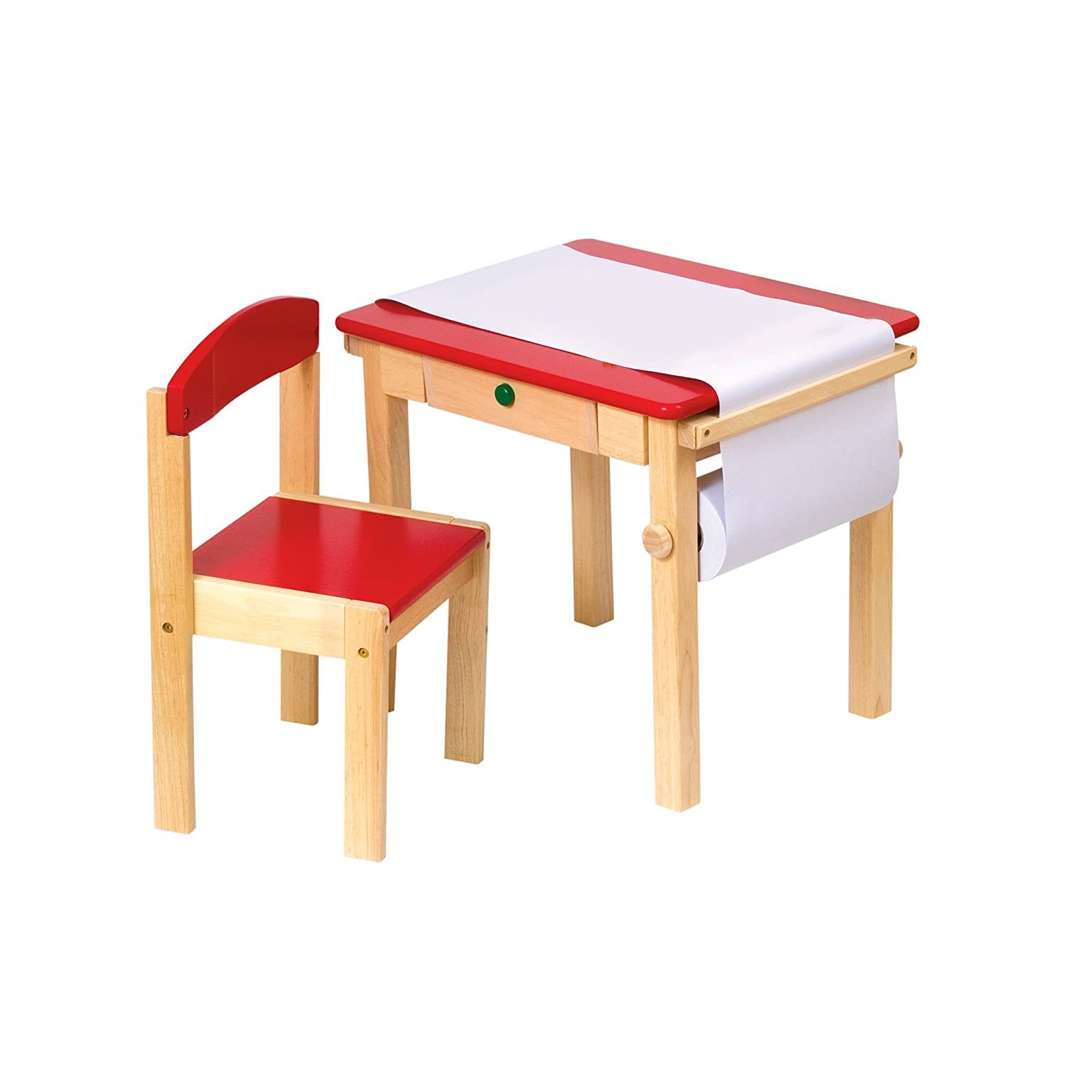 Amazon Guidecraft Art Table & Chair Set Red G Toys
