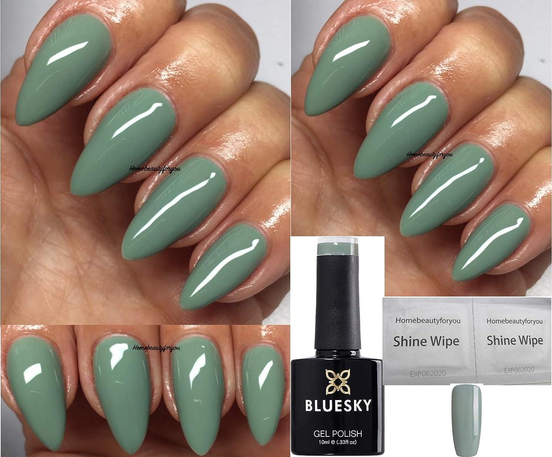 Bluesky CENTRE SAGE GREEN FW9 Nail Gel Polish UV LED Soak Off 9ml