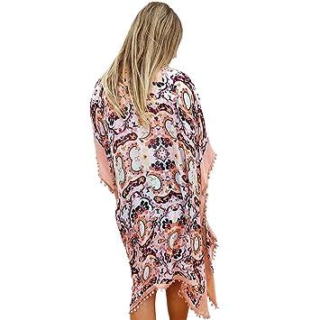 Mujer Vestido de Playa/Traje de baño/Mangas de Kimono ...