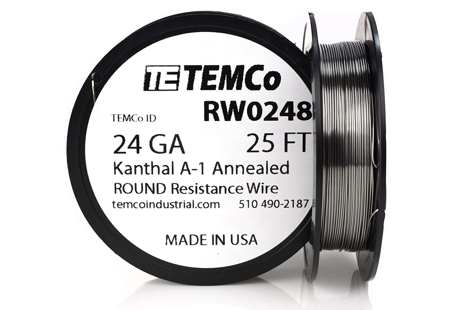 TEMCo Kanthal A1 wire 24 Gauge 1 lb (1018 ft) Resistance AWG A-1 ga ...
