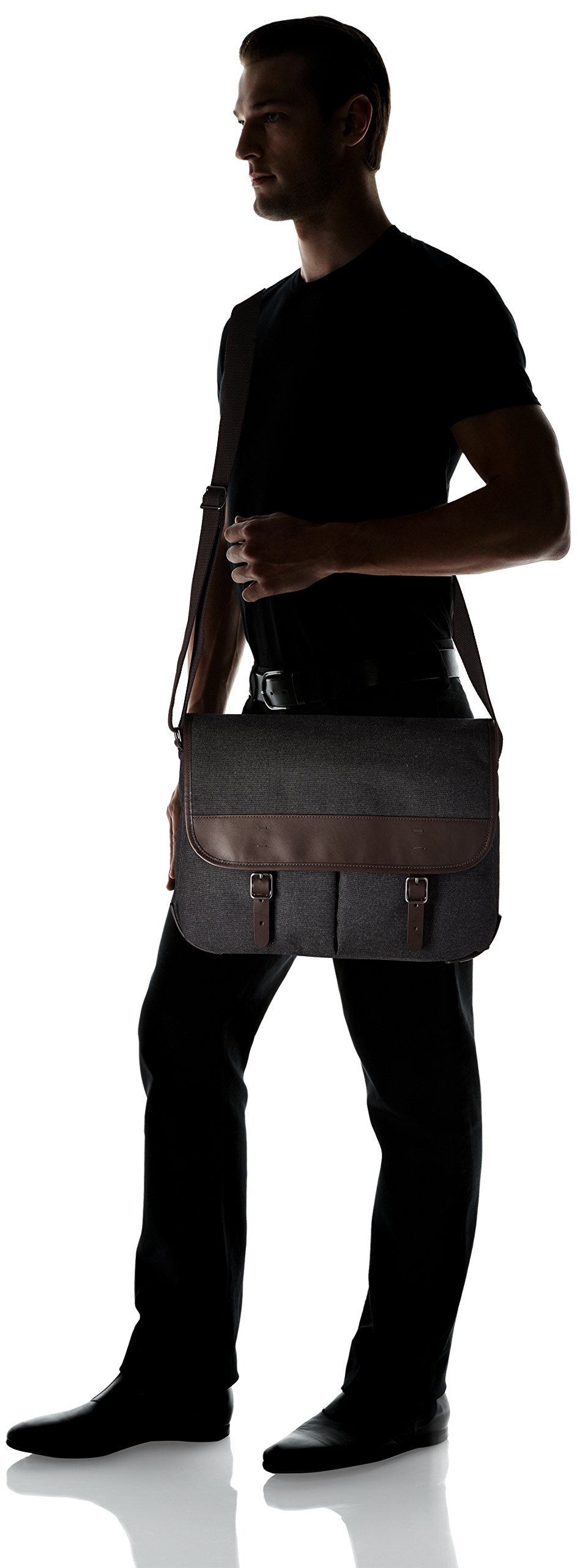 af0933aad5d8 Fossil Men s Buckner Leather Trim Messenger Bag