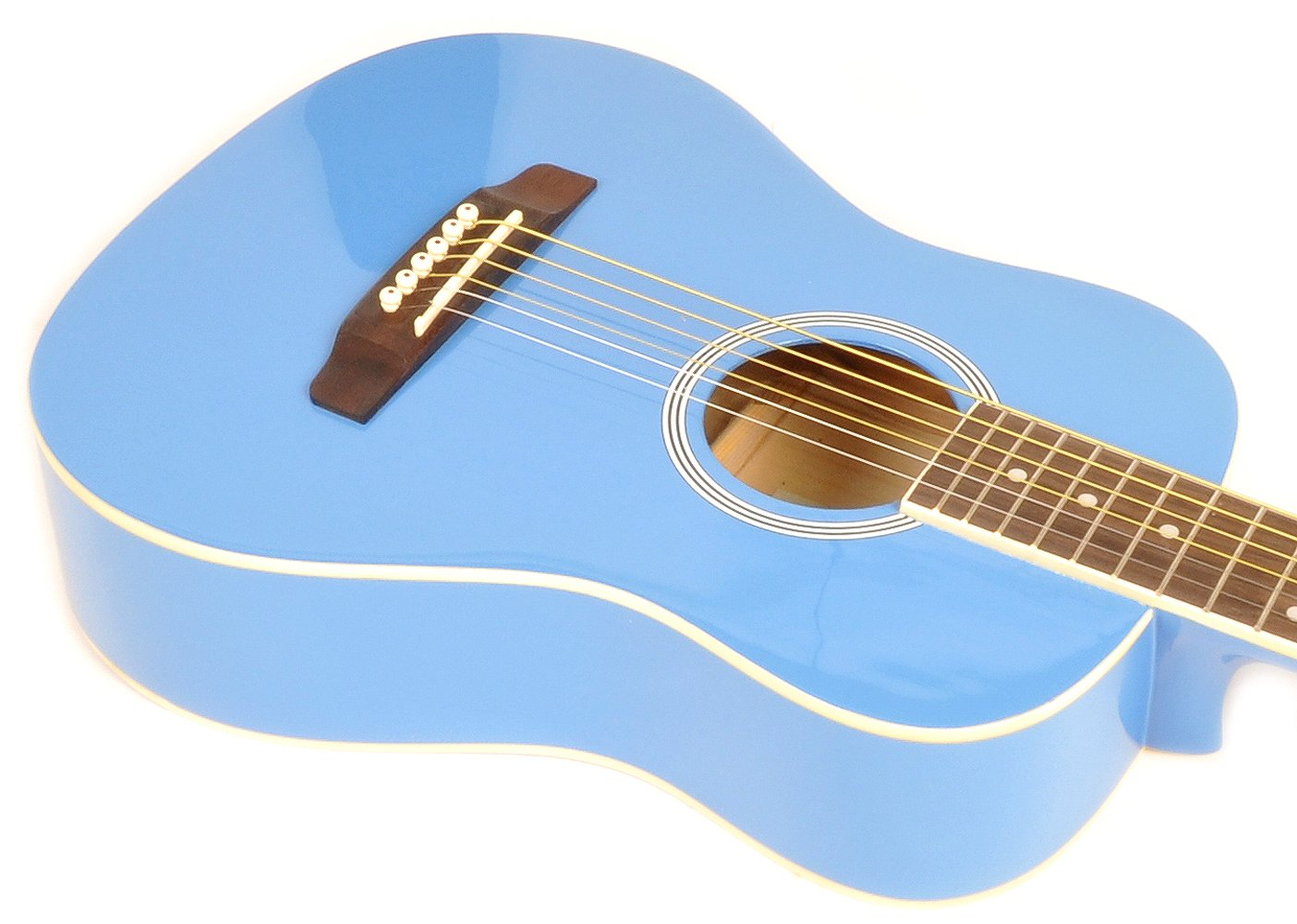 SX RSM 1 34 BBU 3/4 Size Bubblegum Blue Acoustic Guitar Package, Black with Carry Bag, Strap, and Guitar Picks Included by SX (Image #5)