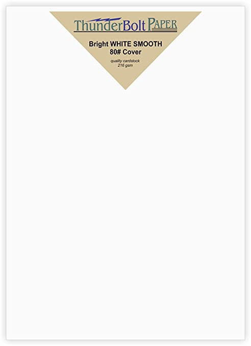 200 bright white smooth card paper sheets 55 x 85 55x8