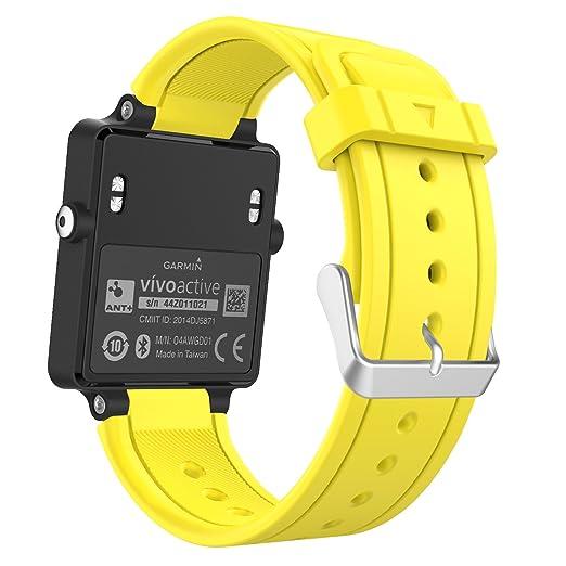 92 opinioni per MoKo Garmin Vivoactive Watch Cinturino, Braccialetto di ricambio in Silicone per