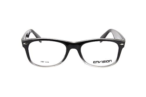 Envision Men\'s 287-C74 Frame Color: Black Lens Color: Clear Eyewear ...