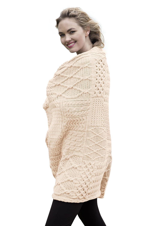 アイルランドウールパッチワークAdult Throw Blanket One Size A510 B01LYC0Q8Q ナチュラル