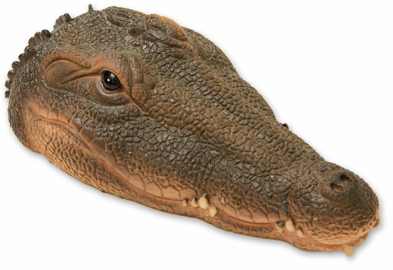 Heron garden ornament - Woodside Floating Crocodile Alligator Head Garden Pond Water Feature Ornament