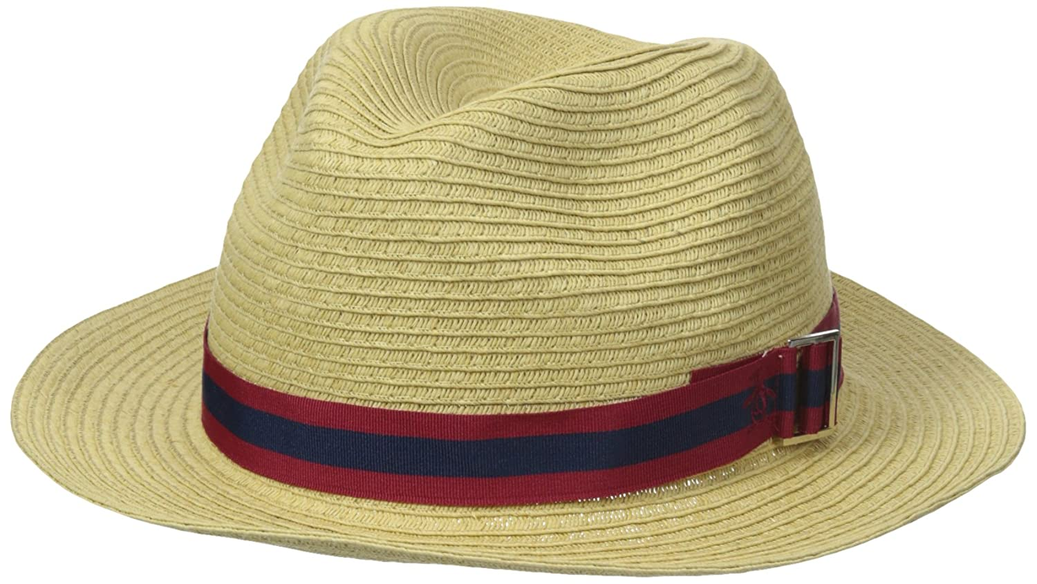 Original Penguin Men's Cuda Packable Straw Fedora Natural Large/X-Large PNH0431