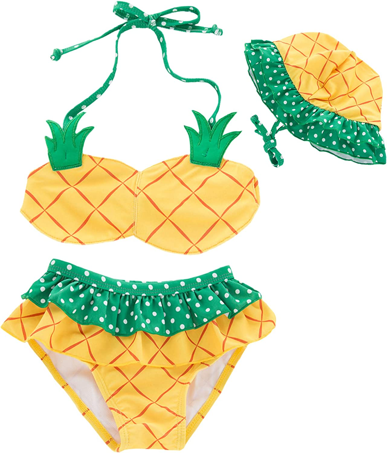 Summer Toddler Kids Baby Girls Tassel Watermelon Print Swimwear Swimsuit Bikini