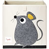 3 Sprouts Storage Box - Mouse, Grey