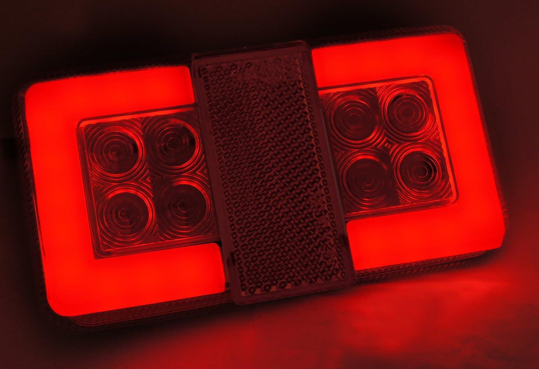 Ein Satz von 2 St/ück LED-R/ückleuchten f/ür LKW PKW Anh/änger Wohnmobil Tankwagen 12//24V ECE IP67 zugelassen Staub und wasserdicht