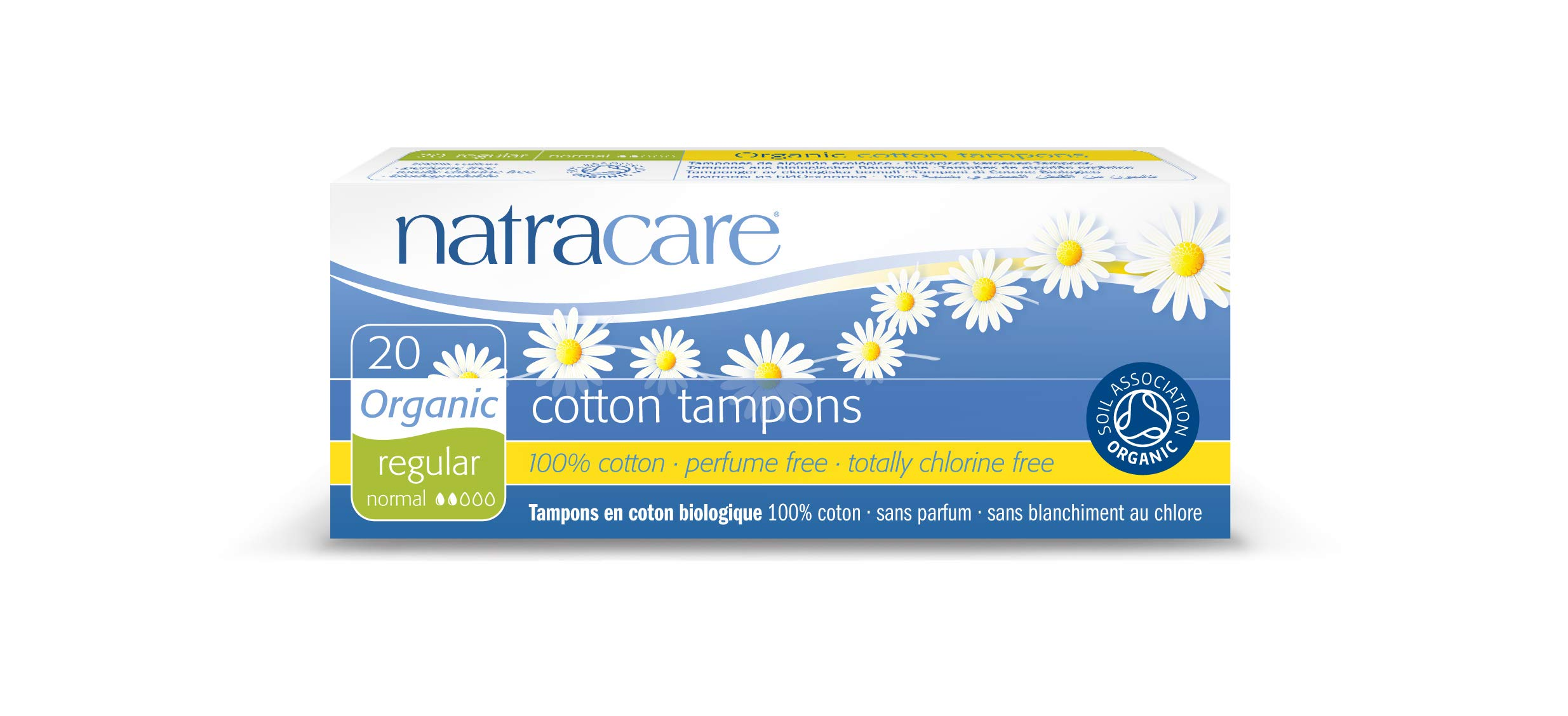 Natracare Organic All Cotton Tampons, Non-Applicator, Regular,  20 Count, Pack of 12 by NATRACARE