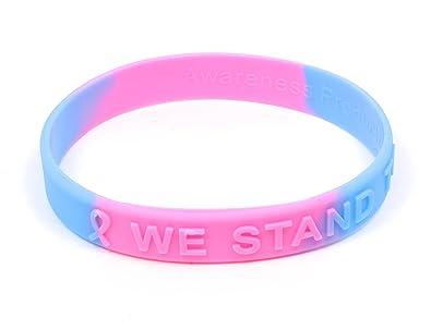 100/% Medical Grade Silicone Bracelets 2 Light Blue Prostate Cancer AwarenessI Support Prostate Cancer Awareness Everyday 2 Bracelets