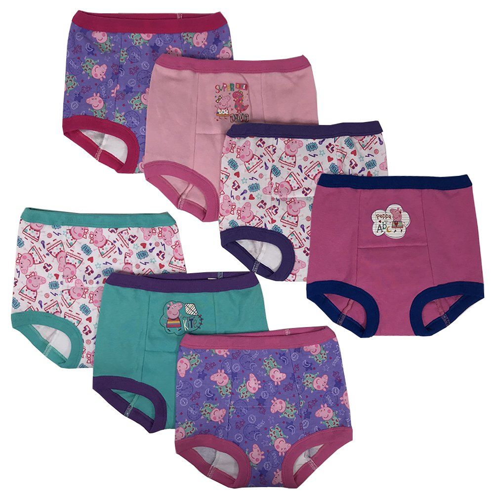 Handcraft Peppa Pig Girls Potty Training Pants Panties Underwear Toddler 7-Pack Size 2T 3T 4T