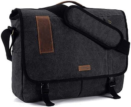 Messenger Bag for Men Laptop Bag 15.6 Inch Lightweight Fashion Water Resistant