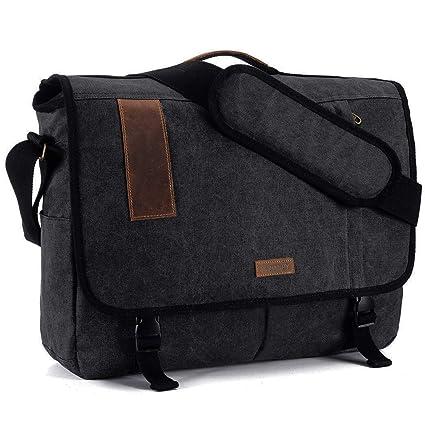 ecc2fd12f922 Laptop Messenger Bag for Men 15 Inch Canvas Shoulder Satchel Bag by  Vonxury  Amazon.ca  Electronics