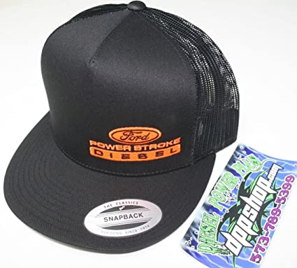 bb35d967b2a Image Unavailable. Image not available for. Color  ford powerstroke trucker  Flat bill ball cap hat snap back ...