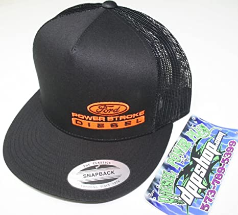 89143830a Amazon.com : ford powerstroke trucker Flat bill ball cap hat snap ...