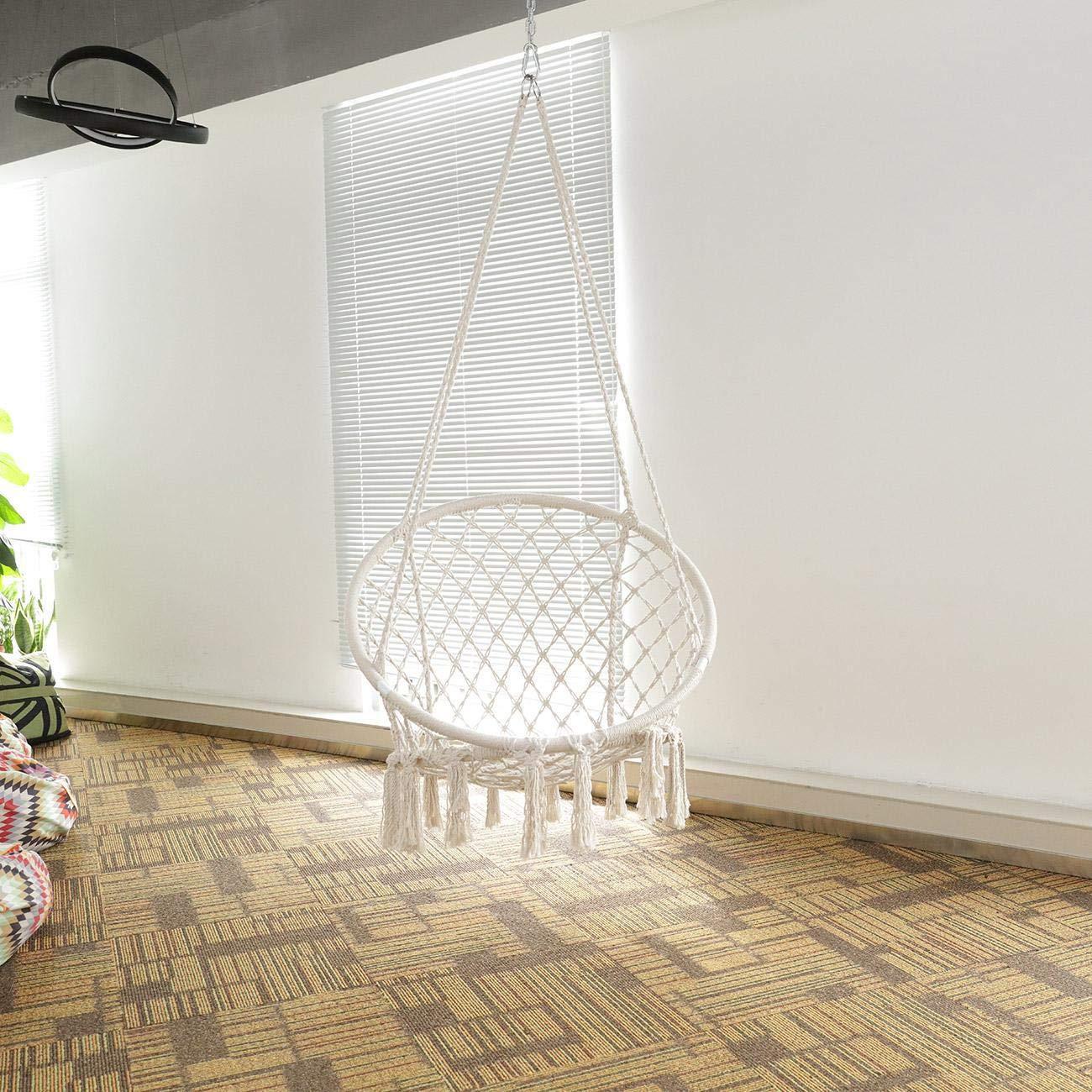 BEAMNOVA 265 lbs Capacity Hammock Chair with Hanging Hardware for Indoor Outdoor Beige by BEAMNOVA (Image #2)