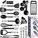 Kitchen Utensil Set 24 Nylon and Stainless Steel Utensil Set, Non-Stick and Heat Resistant Cooking Utensils Set, Kitchen…