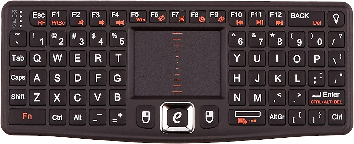 Browser for JVC/ LT-40C890 40 Remote Control for YouTube Black Wireless Mini Keyboard /& Mouse Easy Control