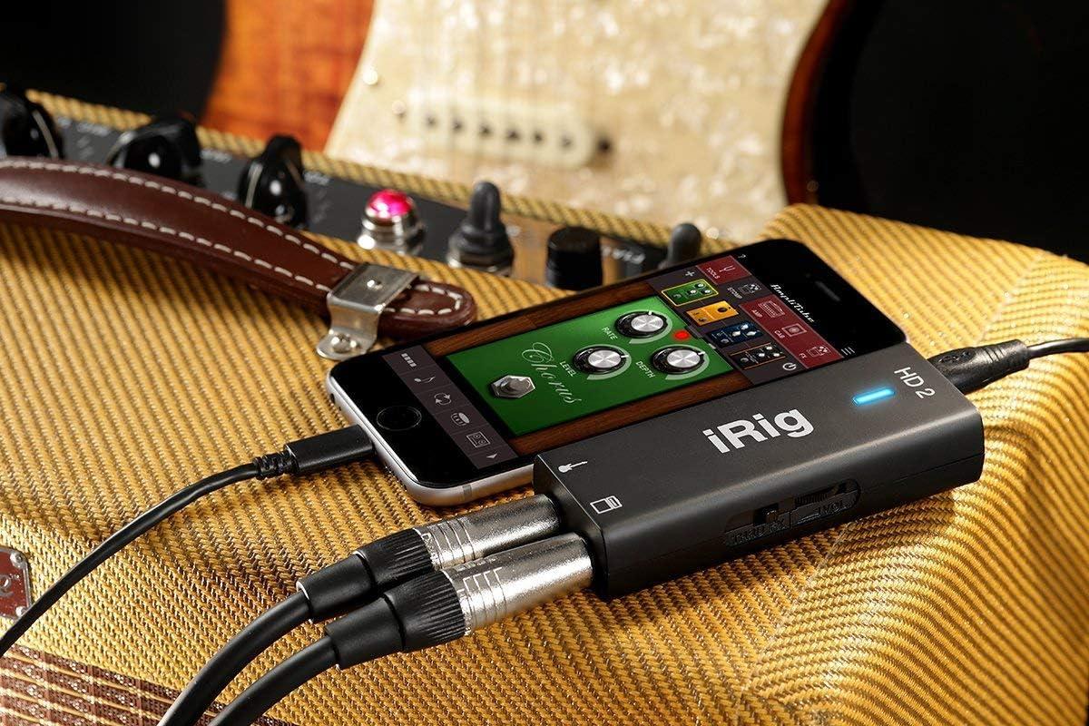 iPad And Mac Ip-Irig-Hd2-In IK Multimedia iRig HD 2 Digital Guitar Interface For iPhone