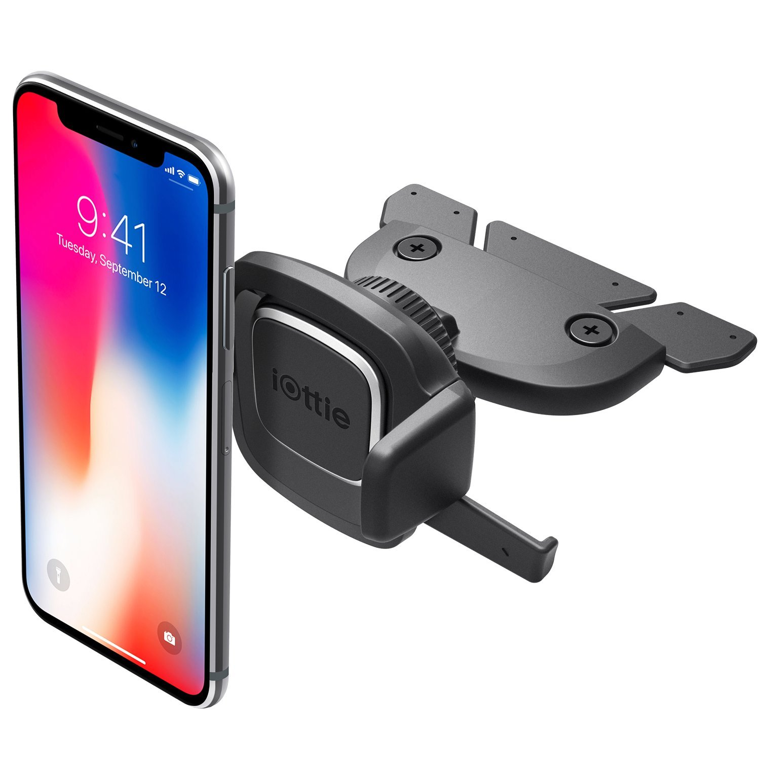 I Ottie Easy One Touch 4 Cd Slot Car Mount Phone Holder || I Phone Xs Max R 8 Plus 7 Samsung Galaxy S10 E S9 S8 Plus Edge, Note 9 & Other Smartphones by I Ottie